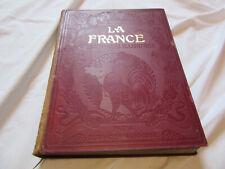 Livre ancien Larousse La France géographie illustrée encyclopédie antique book