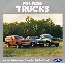 1984 FORD TRUCKs Brochure : 4x4,F150,F-Series,E-150 Van,ECONOLINE,RANGER,BRONCO