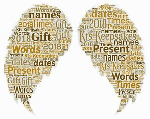 word art picture personalised gift present keepsake angel wings in memory