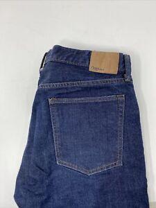 Gap Denim Straight Leg Dark Wash 5 Pocket Jeans Men's Slim Size 34x36