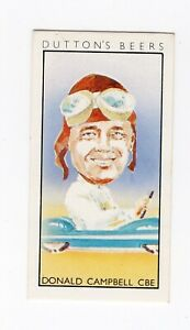 Land and Sea Speed record Card -Donald Campbell in Bluebird