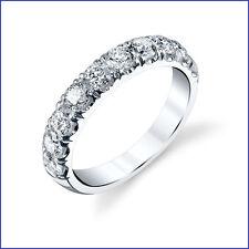 VS1-VS2 F  1.30ct Diamond Wedding Band 18K White Gold. 10 Large Round Brilliants