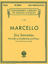 Benedetto Marcello Six Sonatas For Cello Or Double Bass Learn to Play Music Book