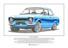 Ford Escort RS2000 Mk1 Limited Edition Fine Art Print A3 size