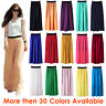Women Double Layer Chiffon Pleated Retro Long Maxi Dress Elastic Waist Skirt Gul