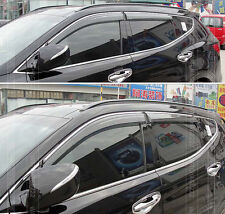FOR 2013 HYUNDAI SANTA FE SPORT RAIN GUARD WINDOW SUN VISOR WEATHER SHIELD IX45