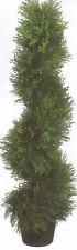 3' TOPIARY ARTIFICIAL OUTDOOR TREE CEDAR SPIRAL CYPRESS UV PINE POOL PATIO PORCH