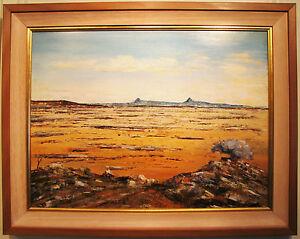 Eric Minchin original oil titled 'Central Australia'.