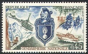 France 1970 Police/Motorcycles/Helicopter/Boats/Transport/Climbing 1v (n23235)