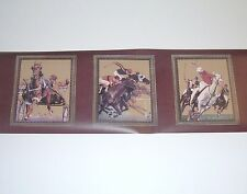 Horse Jockey Wallpaper Border Race Equestrian 2 Rolls x 5YD Hunting Valley Print