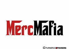 Merc Mafia (or custom test) sticker / Decal, For Mercedes Benz, w124,w202, 190e