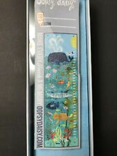 "Oopsy Daisy Growth Chart, Ocean Swimmers, 12"" x 42"" Giclee on Canvas, NIB"