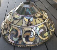 Vintage Art Dale Tiffany Signed Stained Glass Lamp Shade ONLY - 16 inch