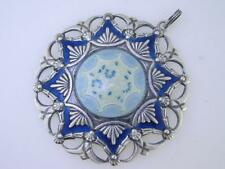Wonderful Sterling Silver & Enameled Medallion Pendant JACOB TOSTRUP Olso Norway