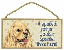 Cocker Spaniel Wood Dog Sign Wall Plaque 5 x 10 for Dog Lovers Gift House Leash