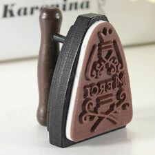 French 'Merci' Creative Iron Wooden Rubber Stamp Retro DIY Postcard Scrapbooking