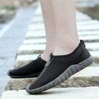 Men Breathable Mesh Shoes Outdoor Walking Sneakers Casual Slip On Loafers Flats