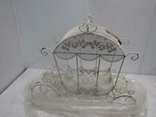 Zaer Ltd. Stephania Cinderella Carriage Flower Stand Antique White Zr190426-Wh