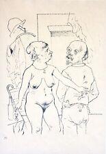 """George Grosz (1893-1959) Lithographie """"Silberne Hochzeit"""" Blatt 75 aus Ecce Homo"""