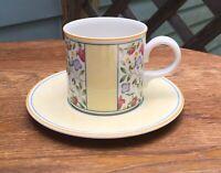 "Villeroy /& Boch Virginia Germany Flat Coffee Tea Cup Cups Saucer 2 7//8/"" Set of 2"