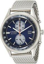 Citizen Chandler CA7020-58L Blue Dial Steel Bracelet Eco-Drive Men's Watch