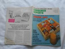 CONSUMER REPORTS Magazine-AUGUST,1976-ORANGE JUICE-WHICH TASTED BEST ?