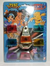 Extremely Rare 1999 Yutaka Japanese Digimon Adventure Digivice Crest Tag Set New