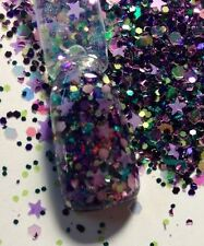 glitter mix acrylic gel Nail Art  Limited Edition. a PASSION UNDER THE STARS