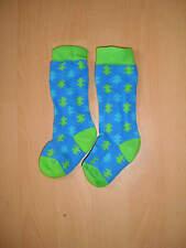 dicke Socken Kniestrümpfe Skisocken Jungen Kleinkind blau grün Winter Gr. 17 NEU