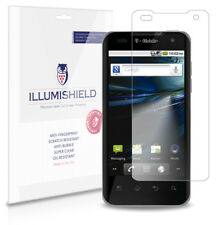 iLLumiShield Phone Screen Protector w Anti-Bubble/Print 3x for T-Mobile G2X
