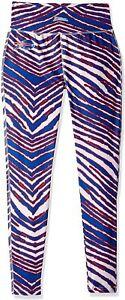 Zubaz Buffalo Bills NFL Women's Zebra Print Legging, Blue/Red
