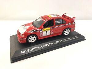Mitsubishi Lancer Evo VI T.Makinen R.mannisenmakj 1/43 Rally Monte Carlo 1999