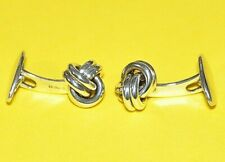 Vintage PETER BRAMS DESIGN PBD 925 Sterling Silver Knot Cufflinks - NICE!