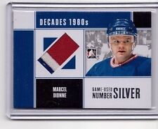 MARCEL DIONNE 2010-11 ITG DECADES 1980's SILVER GAME USED NUMBER PATCH SP/3 #M41
