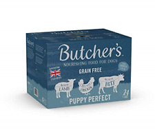 BUTCHER'S Puppy Wet Dog Food Tin Cans Grain Free 24 x 400g