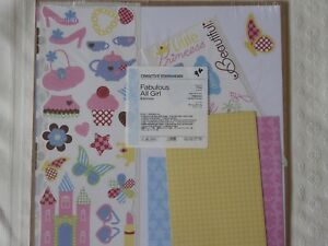 Creative Memories FABULOUS GIRL Additions Scrapbook Paper Mats Stickers 12x