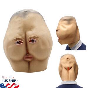 US! Halloween 3D Butt Latex Mask Party Fancy Joking Adult Ass Cosplay Masquerade
