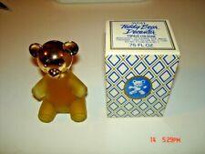 """Vintage 1976 Avon """"Teddy Bear Decanter"""" Topaz Cologne Full .75 oz."""