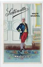 SATINETTE WHITE ENAMEL: advertising postcard (C29915)