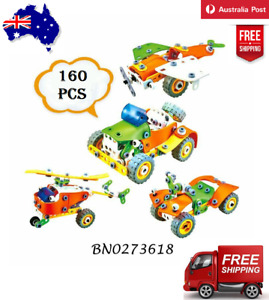 New 160 PCS Building Block Toys Kid Puzzle Playground Car Xmas Gift For Children
