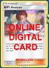 1X Bill's Analysis 133/181 Pokemon Online Card TCG PTCGO Digital Card