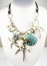 "Joan Rivers Star Fish Pendant Necklace  15""  3"" ext. Silvertone"