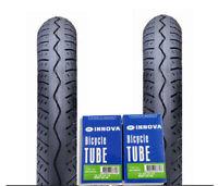 2 X Innova 12-1/2 X 2 1/4 Bmx Bike Tyre Bicycle Tire Black W/ Innova Bent Valve