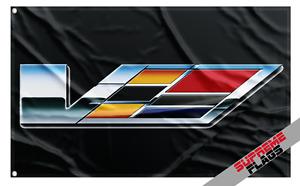 Cadillac V-Series Flag Banner (3x5 ft) Car Garage General Motors Performance
