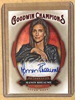 2020 Upper Deck Goodwin Champions Manon Rheaume Auto Autograph