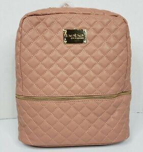 NWT $109 Bebe Danielle Quilted Backpack Bag Dark Blush Pink Handbag WBE07 Gold
