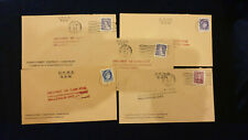 Canada, Lot of 5 Covers O.H.M.S. franked official stamps with letter G... #5718