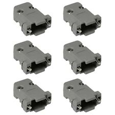 6x 9 Pin DB9 D-SUB Plastic Housing for RS232 Serial Port Solder Cup Connector