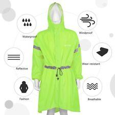 Poncho Regenmantel Regenjacke cape unisex inkl. Rucksackschutz mit Rucksack Grün