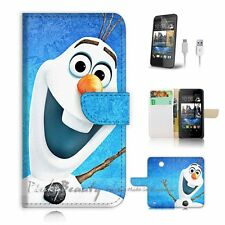 ( For HTC Desire 310 ) Case Cover P3415 Frozen Olaf